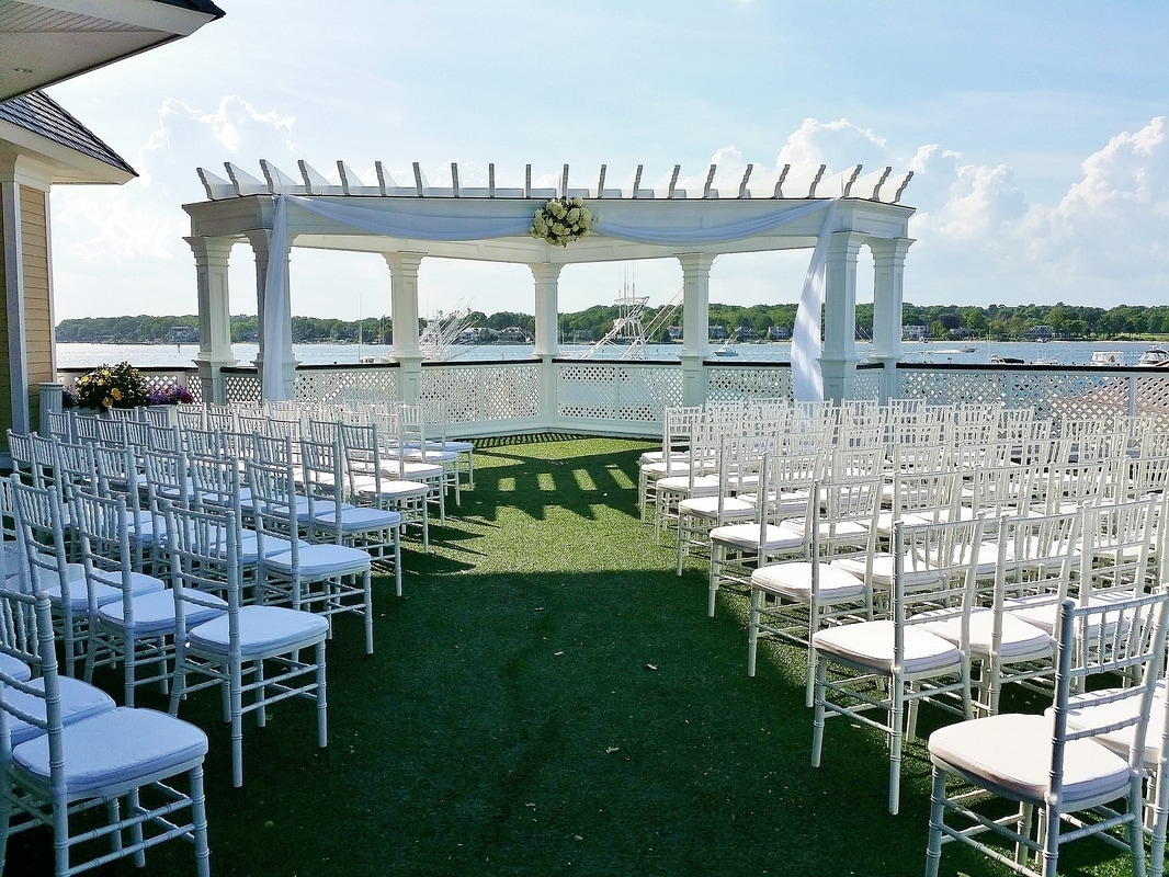 Wedding at Clarks Landing by NJ Wedding Officiant Andrea Purtell