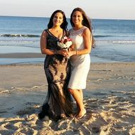 Wedding on the beach in Asbury Park by NJ Wedding Officiant Andrea Purtell www.forthisjoyousoccasion.com