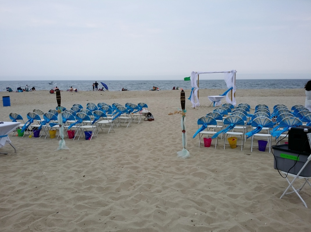 Wedding at Whitesands Point Pleasant Beach by NJ Wedding Officiant Andrea Purtell