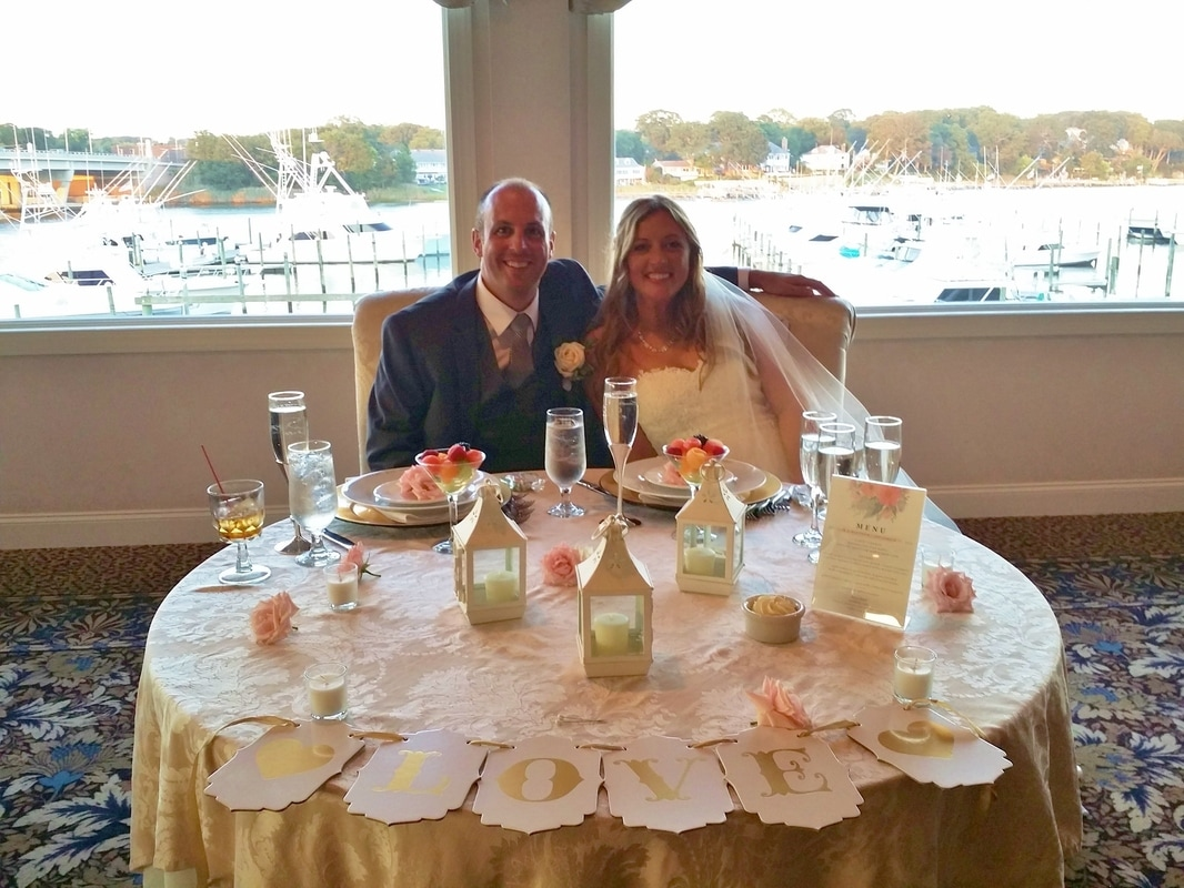 Wedding at Crystal Point Yacht Club by NJ Wedding Officiant Andrea Purtell www.forthisjoyousoccasion.com