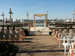 Wedding at The Channel Club by NJ Wedding Officiant Andrea Purtell www.forthisjoyousoccasion.com